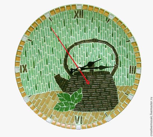 """Часы для дома ручной работы. Ярмарка Мастеров - ручная работа. Купить Часы настенные """"Минутки счастья"""". Handmade. Разноцветный, стекло"""