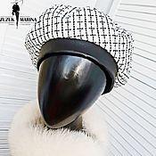 Береты ручной работы. Ярмарка Мастеров - ручная работа Береты:  «Шанель» берет из твида белая клетка с искоркой. Handmade.