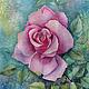 Картины цветов ручной работы. Ярмарка Мастеров - ручная работа. Купить Картина акварелью Розовая роза. Handmade. Живопись, цветы