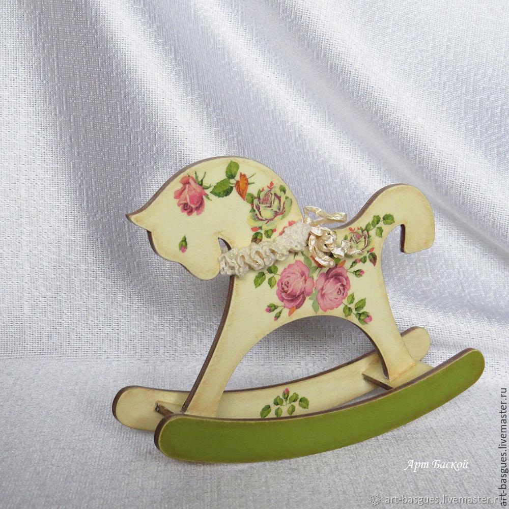 Лошадка - качалка  игрушка   Розочка, Элементы интерьера, Великие Луки,  Фото №1