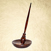 Материалы для творчества handmade. Livemaster - original item Wooden spindle with base made of pine wood B6. Handmade.