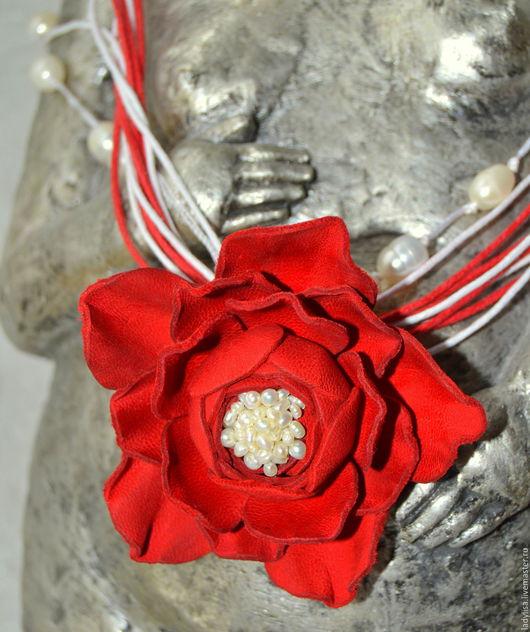 Кулоны, подвески ручной работы. Ярмарка Мастеров - ручная работа. Купить Кулон Роза.. Handmade. Ярко-красный, стильное украшение