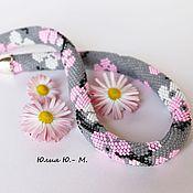Украшения handmade. Livemaster - original item Harness beaded necklace Sakura, flowers, embellishment beaded. Handmade.