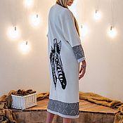 Одежда ручной работы. Ярмарка Мастеров - ручная работа Кардиган пальто ЗЕБРА ПРИНТ. Handmade.