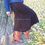 Одежда ручной работы. Ярмарка Мастеров - ручная работа Тёплая вязаная  юбка годе. Handmade.
