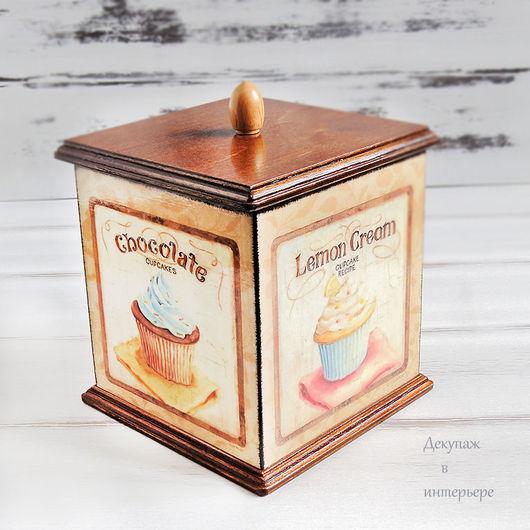 """Кухня ручной работы. Ярмарка Мастеров - ручная работа. Купить Короб для конфет,чая,трав """"Вкусняшка"""" Декупаж.. Handmade."""