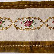 Винтаж handmade. Livemaster - original item Vintage tapestry doily-track ( hand embroidery). Germany. Handmade.