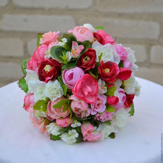 Свадебные цветы ручной работы. Ярмарка Мастеров - ручная работа. Купить Букет-дублер №3. Handmade. Розовый, дублер
