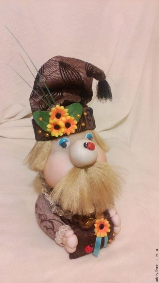 Сказочные персонажи ручной работы. Ярмарка Мастеров - ручная работа. Купить Домовенок шкатулка. Handmade. Комбинированный, ткань, искусственные цветы