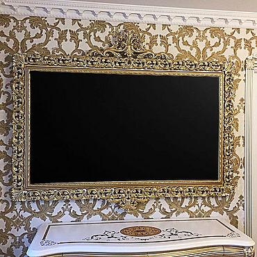 Для дома и интерьера ручной работы. Ярмарка Мастеров - ручная работа Декоративная рама для телевизора. Handmade.