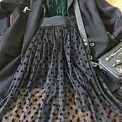 Одежда ручной работы. Ярмарка Мастеров - ручная работа Юбка -пачка из фатина в горошек ( сетки в горох), юбка из тюля. Handmade.