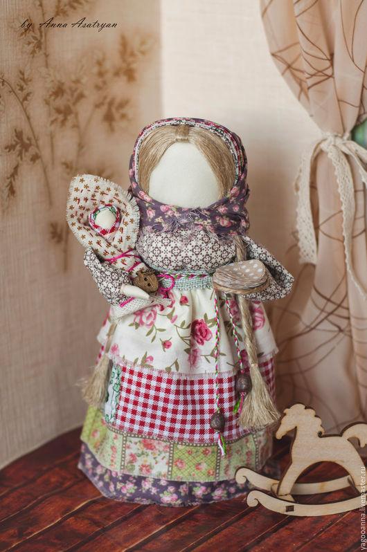 Народные куклы ручной работы. Ярмарка Мастеров - ручная работа. Купить Кукла-оберег Масленица Домашняя,сувенирная куколка. Handmade.