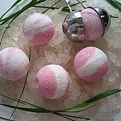 """Бомбочки для ванны ручной работы. Ярмарка Мастеров - ручная работа Бомбочки для маникюра """"PinK"""" с розовой сакской солью. Handmade."""