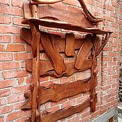 Для дома и интерьера ручной работы. Ярмарка Мастеров - ручная работа Вешалка и обувница из можжевельника. Handmade.