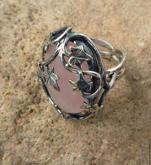 Кольца ручной работы. Ярмарка Мастеров - ручная работа. Купить Кольцо ''Каменный цветок''. Handmade. Розовый, подарок девушке