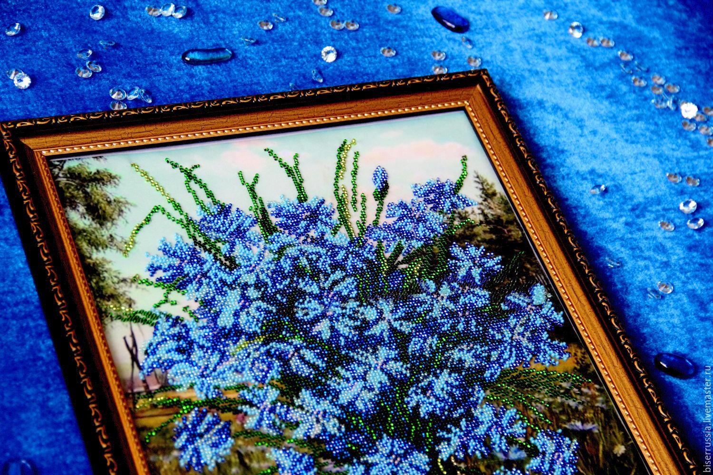 Картина из цветов ручной работы