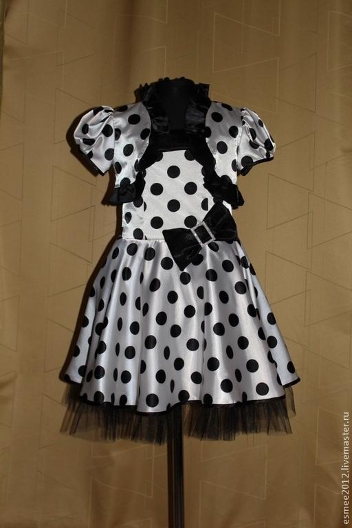 Одежда для девочек, ручной работы. Ярмарка Мастеров - ручная работа. Купить Платье в горошек. Handmade. Чёрно-белый, платье для выпускного