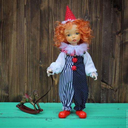 Коллекционные куклы ручной работы. Ярмарка Мастеров - ручная работа. Купить Интерьерная кукла. Handmade. Синий, полимерная глина