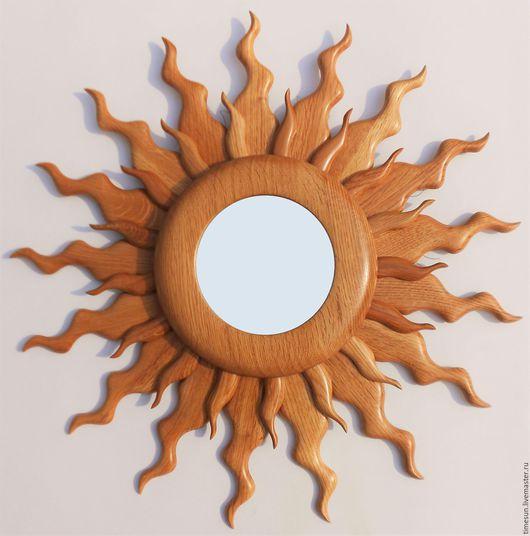 """Зеркала ручной работы. Ярмарка Мастеров - ручная работа. Купить Зеркало """"Солнце""""  D 50 см.. Handmade. Зеркало"""