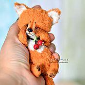 Куклы и игрушки ручной работы. Ярмарка Мастеров - ручная работа Лисенок Черриш.  fox pup тедди лис, коллекционная игрушка. Handmade.