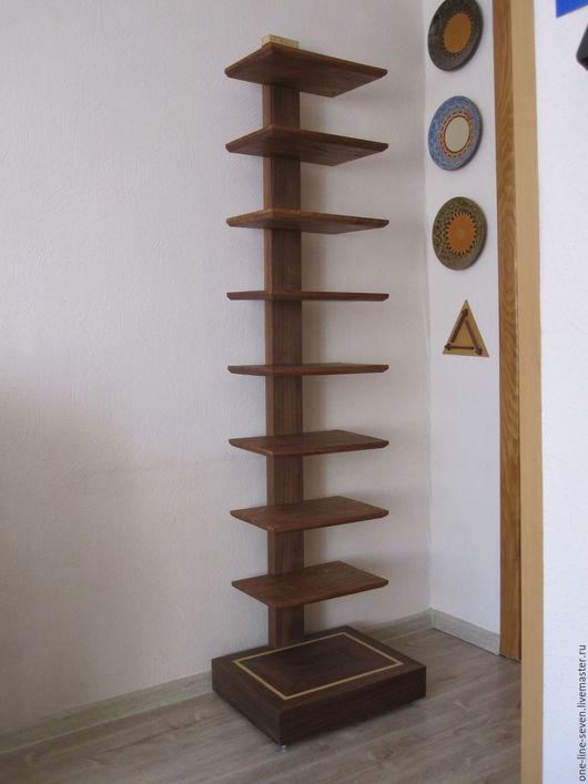 Мебель ручной работы. Ярмарка Мастеров - ручная работа. Купить Полка - стеллаж. Handmade. Стойка, массив, орех, современный, коричневый
