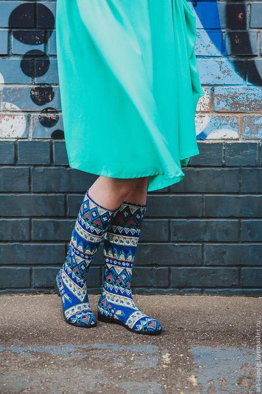 Обувь ручной работы. Ярмарка Мастеров - ручная работа. Купить Летние сапоги 5-116 (ВЧ). Handmade. Летние сапоги