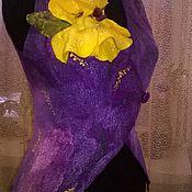 Одежда ручной работы. Ярмарка Мастеров - ручная работа Валяный жилет Желтый Ирис. Handmade.