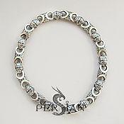 Украшения handmade. Livemaster - original item Chain bracelet: Silver bracelet for men. Handmade.