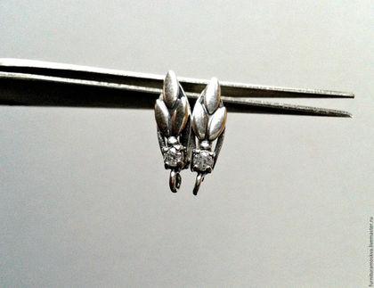 Для украшений ручной работы. Ярмарка Мастеров - ручная работа. Купить Швензы мельхиор,с кристаллами,пр-во Россия. Handmade.