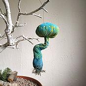 Елочные игрушки ручной работы. Ярмарка Мастеров - ручная работа Бирюзовый гриб, елочная игрушка мухомор. Handmade.