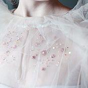Блузки ручной работы. Ярмарка Мастеров - ручная работа Блузки из фатина с вышивкой. Handmade.