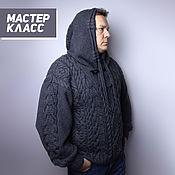 Материалы для творчества handmade. Livemaster - original item Master class: Men`s wool sweater with a hood. Handmade.