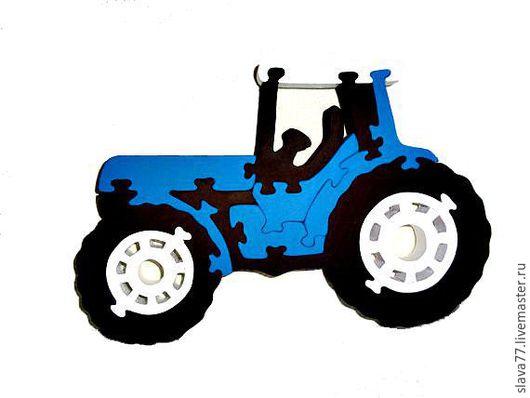 """Развивающие игрушки ручной работы. Ярмарка Мастеров - ручная работа. Купить Деревянный пазл """"Трактор"""". Handmade. Дерево, развивающая игрушка"""