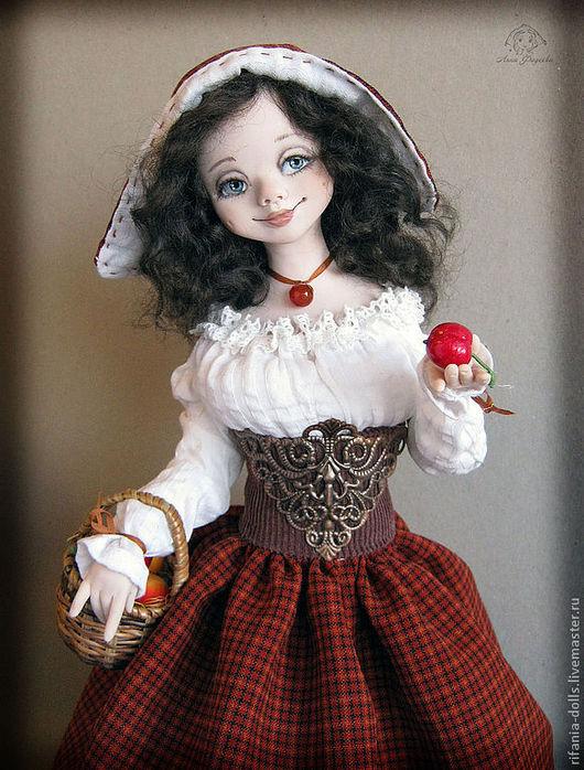 Коллекционные куклы ручной работы. Ярмарка Мастеров - ручная работа. Купить Берта. Handmade. Коричневый, урожай, мохеровый т ресс