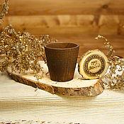 Посуда handmade. Livemaster - original item Wooden glass Textured Pine tree #R10. Handmade.