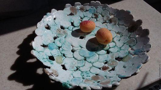 Кухня ручной работы. Ярмарка Мастеров - ручная работа. Купить Блюдо для фруктов. Handmade. Блюдо для фруктов, река, комбинированный, шамот