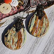 """Украшения ручной работы. Ярмарка Мастеров - ручная работа Серьги """"Осенние"""". Handmade."""
