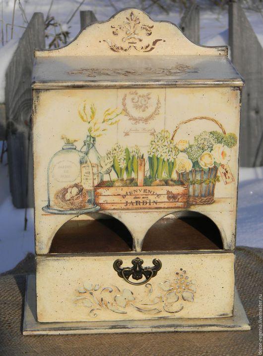 """Кухня ручной работы. Ярмарка Мастеров - ручная работа. Купить Чайный комодик """"Чаепитие в Провансе"""". Handmade. Бежевый, для чая"""