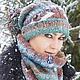 Шапки ручной работы. Комплект шапочка и снуд - Глазки.. Knitted fashion by Ekaterina Bykova. Ярмарка Мастеров. Шапочка вязаная