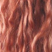"""Волосы для кукол ручной работы. Ярмарка Мастеров - ручная работа Локоны,волосы,пряди  для кукол- козья шерсть """"Тициан3"""".. Handmade."""
