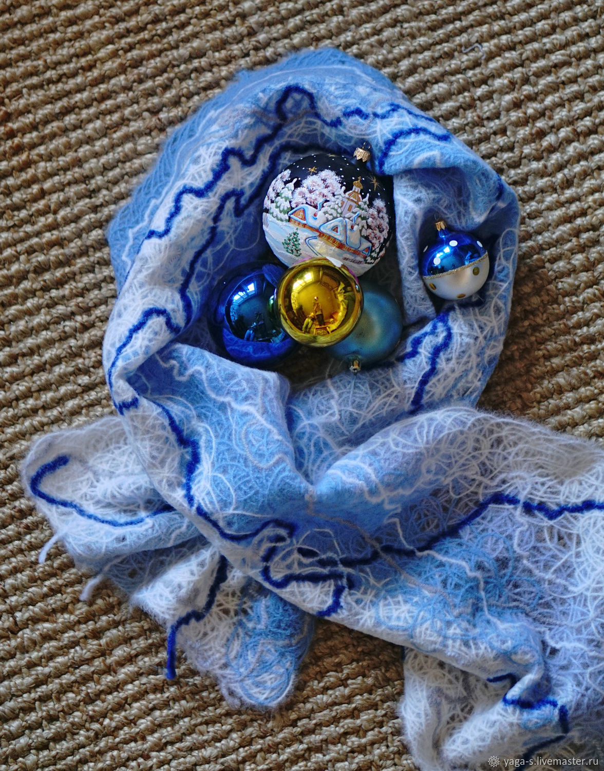 Handmade wool scarf, Scarves, Moscow,  Фото №1
