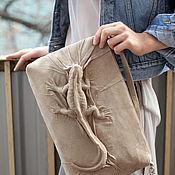 Сумки и аксессуары handmade. Livemaster - original item Bag made of natural suede