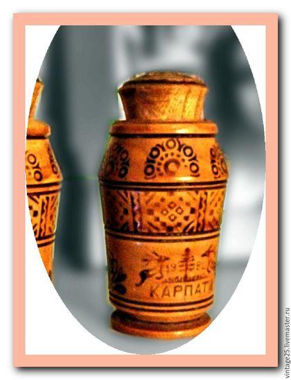 Винтажная посуда. Ярмарка Мастеров - ручная работа. Купить Солонка Карпаты 1972 год дерево. Handmade. Комбинированный, прибор для соли, перечница