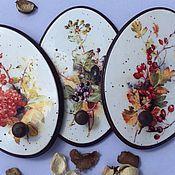 """Для дома и интерьера ручной работы. Ярмарка Мастеров - ручная работа Панно вешалка """"Краски осени"""". Handmade."""