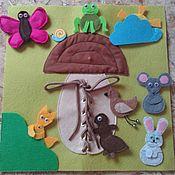 Куклы и игрушки ручной работы. Ярмарка Мастеров - ручная работа Грибок - теремок. Handmade.