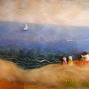 """Картины и панно ручной работы. Ярмарка Мастеров - ручная работа """"Мечта"""" 3D-картина из шерсти % скидка до 25.07. Handmade."""