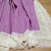 Для дома и интерьера handmade. Livemaster - original item Linen tablecloth siren ` Batiste with lace 560 220 cm. Handmade.