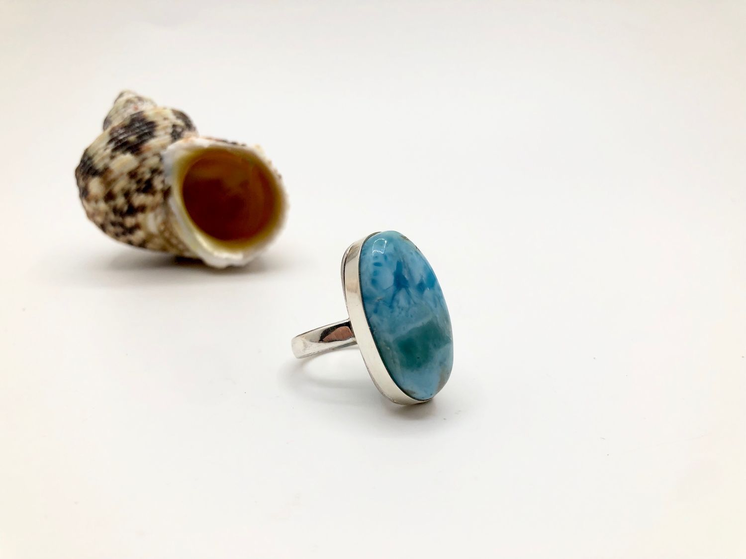 Ring with larimar, Rings, Feodosia,  Фото №1