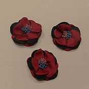 Материалы для творчества handmade. Livemaster - original item DECORATIVE FLOWERS SATIN RIBBON - 5 COLORS. Handmade.