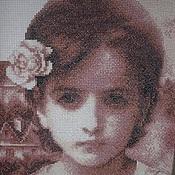 """Картины и панно ручной работы. Ярмарка Мастеров - ручная работа Ручная вышивка """"Паула"""" (Портрет молодой девушки). Handmade."""